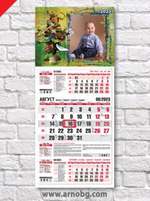 """Детски календар """"Костенурките Нинджа 3"""""""
