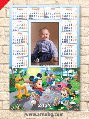 "Еднолистов календар ""Мики Маус и приятели"""