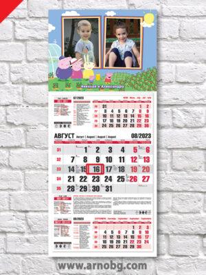 """Детски календар """"Прасето Пепа 3"""""""