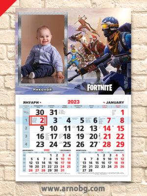 """Детски календар """"Фортнайт 1"""""""