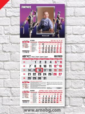 """Детски календар """"Фортнайт 3"""""""