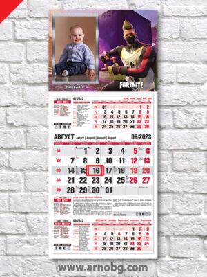 """Детски календар """"Фортнайт 6"""""""