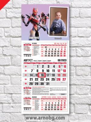"""Детски календар """"Фортнайт 10"""""""
