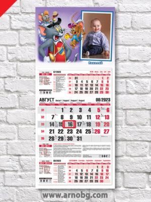 """Детски календар """"Том и Джери"""""""