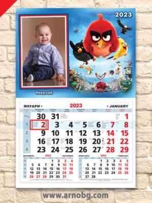 """Детски календар """"Angry birds"""""""