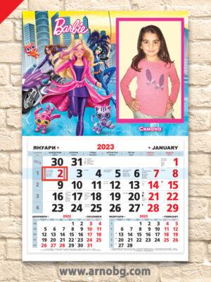 """Детски календар """"Барби"""""""