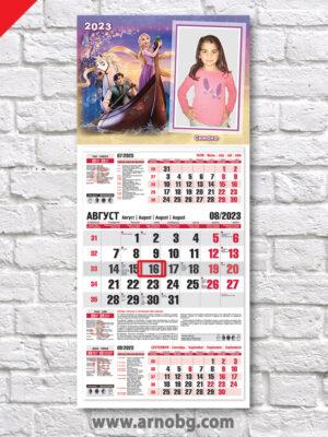 """Детски календар """"Рапунцел 3"""""""